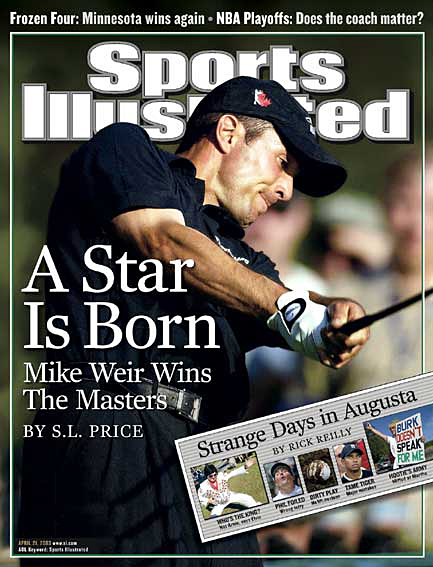Mike Weir wins 2003 Masters April 21, 2003