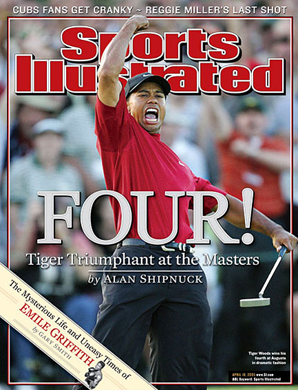 Tiger Woods wins fourth green jacket April 18, 2005