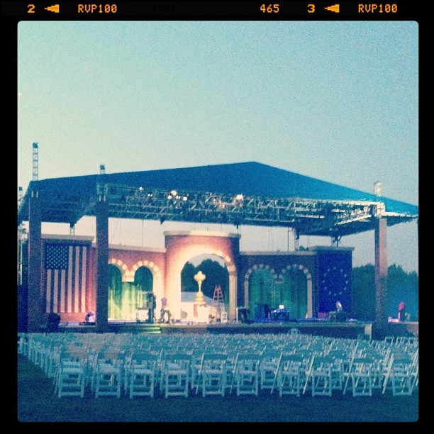 @stephaniemwei:Stage coming together nicely for opening ceremonies...