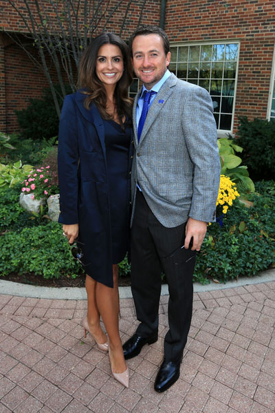 Graeme McDowell poses with Kristin after the Opening Ceremony for the 39th Ryder Cup.