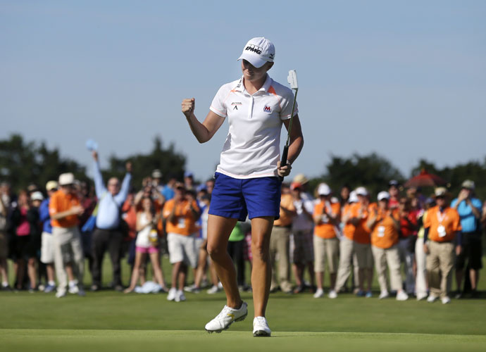 Lewis rolled to a dominating victory at the ShopRite LPGA Classic, the second time she has won the event. Lewis shot a 16-under 67-63-67 for a six-stroke margin of victory over Christina Kim in Galloway, N.J.