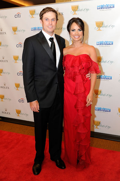 Amber Watney with husband, Nick Watney.