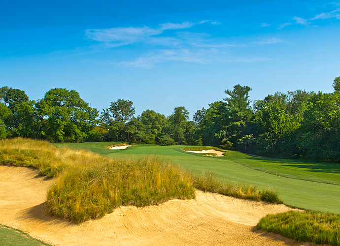 The 403-yard par-4 12th has had the slopes of its green softened in order to create more hole locations.