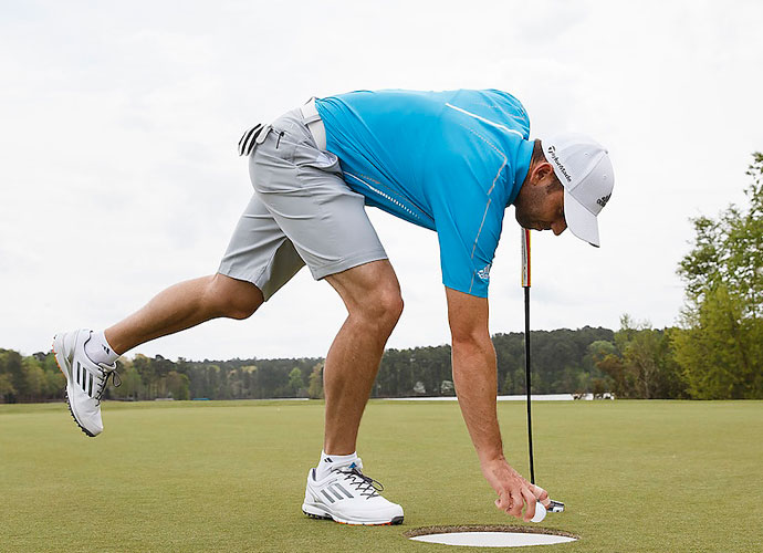 """If you took a reasonably difficult par-72 Tour course and put 15-inch cups on the greens, what would you shoot?                        PGA Tour pro responses:                        LESS THAN 50: 4 percent                        54: 10 percent                        54-60: 41 percent                        61-65: 38 percent                        66+: 7 percent                        OFF THE RECORD:                       """"Fifteen inches? I just need one inch on each side. I hit more lips than an orthodontist."""""""