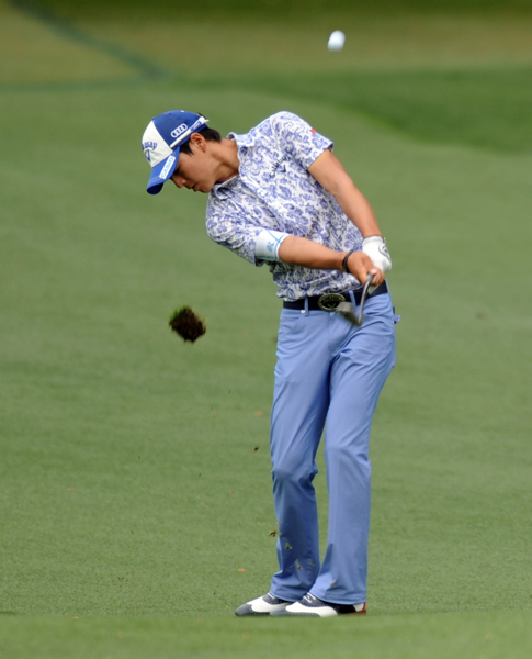 WORST: RYO ISHIKAWA                     I love the fit and color of Ishikawa's pants, but is it just me, or does that floral print polo seem about 50 years too old for him?