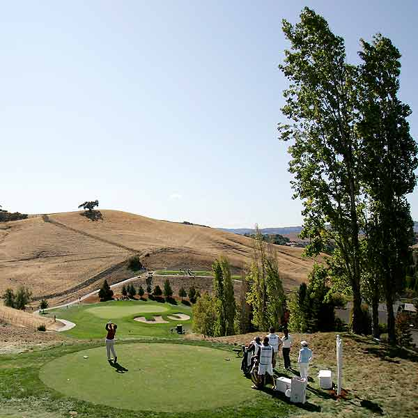 Round 2 of the LPGA Long Drugs Challenge                       Firm greens, a challenging course and high winds combined to make scoring tough at the Blackhawk Country Club in Danville, California Friday.