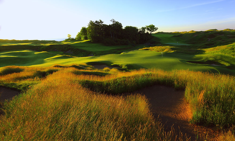 7. 18th at Whistling Straits -- Par 4, 500 yards -- Kohler, Wisc.                     Nicknamed Dye-abolical (after designer Pete Dye) it's best known today as the hole that did in Dustin Johnson at the 2010 PGA Championship. But this beastly par 4 has undone many others. Among them, Justin Leonard, who, needing a par to win the 2004 PGA, carried the long gorge on his tee shot, then sailed over another that guards the green, only to land in a grassy hollow, just steps from the putting surface, with little hope of getting up and down. He didn't, and lost in a playoff to Vijay Singh.