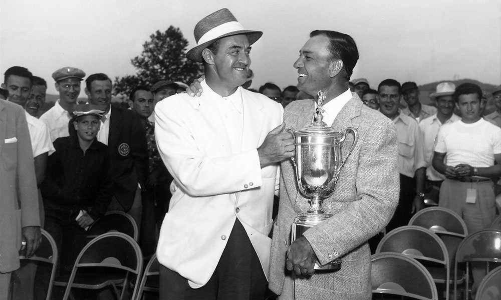 Hogan finished six strokes ahead of runner-up Sam Snead.