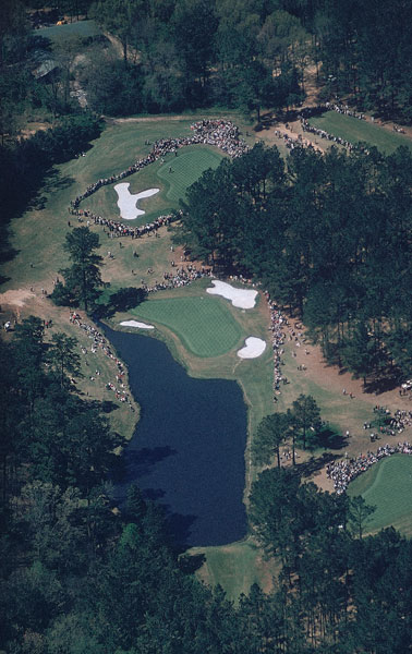 1960: The 6th and 16th greens at Augusta National.