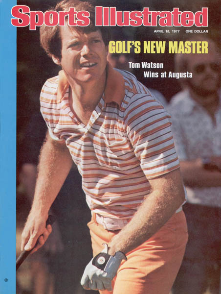 Watson beat Jack Nicklaus by two shots to win the 1977 Masters, his first of two green jackets.
