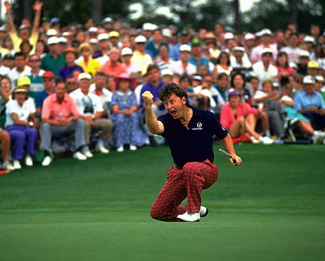 Ian Woosnam made a par on 18 to edge Jose Maria Olazabal by one at the 1991 Masters.