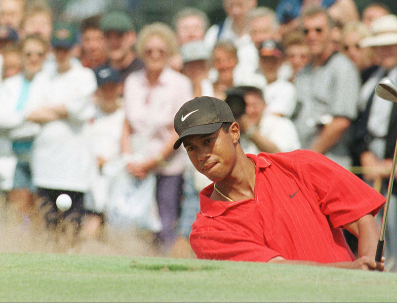 Tiger finished tied for 24th at Royal Troon in 1997.