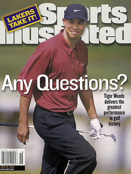 Tiger Woods, 2000 U.S. Open: 15 shots                     Woods delivered the most dominant performance in the history of golf during the 2000 U.S. Open. He lapped the field at Pebble Beach, beating runners up Ernie Els and Miguel Angel Jimenez by 15 shots. Read More...