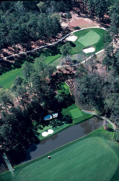 2002: SI wanted to do a story about the goings-on at Augusta Country Club, which abuts Augusta National and shares a number of local members. There was no better way to illustrate how close the two clubs really are than to have photographer Chris Stanford go high and show the proximity of the 9th hole at Augusta Country Club to the 13th tee at Augusta National.