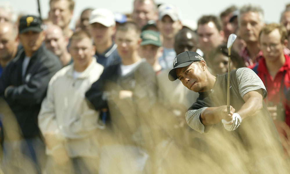 Tiger finished tied for fourth in 2003 at Royal St. Georges.