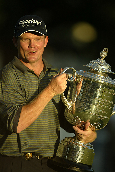 2003                     Oak Hill Country Club                     Rochester, New York                     Winner: Shaun Micheel 69-68-69-70 — 276                     Runner-up: Chad Campbell 69-72-65-72 — 278                     Completing a season that saw four first-time major winners, Micheel hit the 7-iron of a lifetime to less than a foot on the final hole to win in Upstate New York.