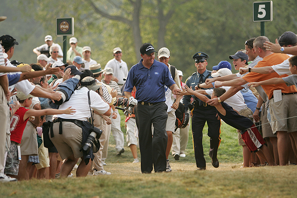 2005                     Baltusrol Golf Club (Lower Course)                      Springfield, New Jersey                     Winner: Phil Mickelson 67-65-72-72 — 276                     Runners-up: Steve Elkington 68-70-68-71 — 277                     Thomas Bjorn 71-71-63-72 — 277                     A New York-area favorite, Phil Mickelson marched to his second major triumph in the heat at Baltusrol.