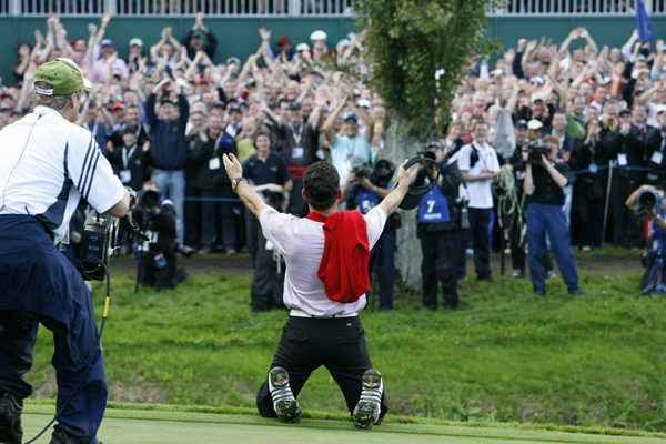 2006 Ryder Cup                       The K Club                       Straffan, Ireland                       While still young in years, Garcia had become a veteran of Ryder Cup pressure and continued to thrive under it. Garcia went 2-0 with Jose Maria Olazabal in the four-ball matches and 2-0 with Luke Donald in the foursomes. His loss in the Sunday singles matches to Stewart Cink didn't spoil his celebration.
