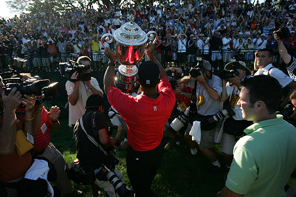 2006                     Medinah Country Club                     Medinah, Illinois                     Winner: Tiger Woods 69-68-65-68 — 270                     Runner-up: Shaun Micheel 69-70-67-69 — 275                     After winning the British Open at Royal Liverpool the month before, Woods won his third PGA Championship.