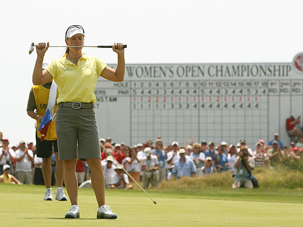 In 2006, Sorenstam won her third U.S. Open by defeating Pat Hurst in an 18-hole playoff at Newport Country Club in Rhode Island.