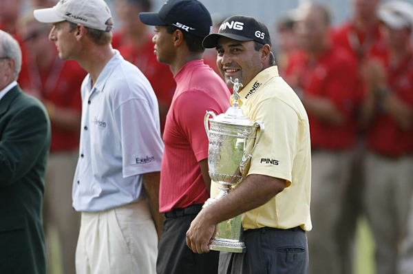 Angel in America                                          Angel Cabrera had a lot to celebrate after his win at the U.S. Open, where Tiger Woods let another major opportunity pass him by. It was the European tour veteran's first victory in the U.S. and the first U.S. Open victory by a South American.                      Cabrera faltered in the playoff events, however, missing the cut at the Barclays, finishing tied for 23rd at the Deutsche Bank and tied for 30th at the BMW. He failed to qualify for the Tour Championship and ended the season 47th in the FedEx Cup rankings.                                                                                     Related Links                     • Complete U.S. Open Coverage                     • Cabrera won the U.S. Open with a rock-solid final round                     • Final Round Photos from the Open                     • 5 Things You Didn't Know About Cabrera                     • Equipment: What they hit at the U.S. Open