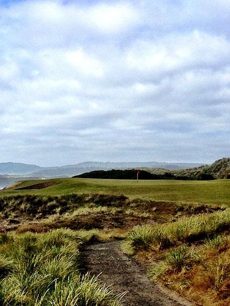 """""""@eamonlynch: The 6th at Bandon Dunes. Our 60th of the day. Legs tingling."""""""