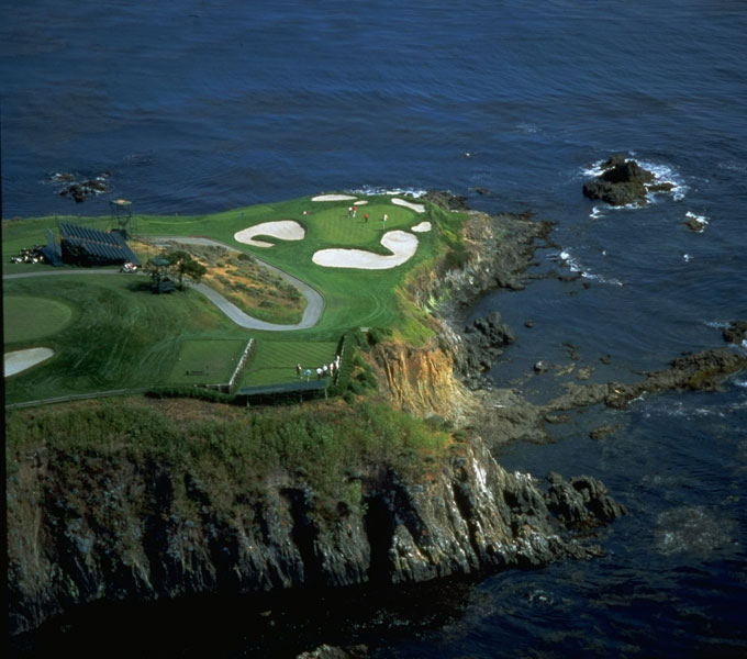 Pebble Beach                     The 7th hole at Pebble is one of the most picturesque in the world.