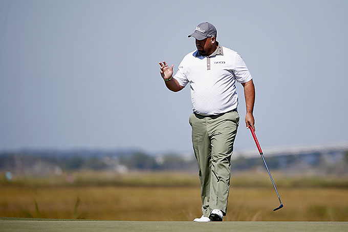 Brendon de Jonge shot a Saturday 69 to get to 9-under for the tournament.
