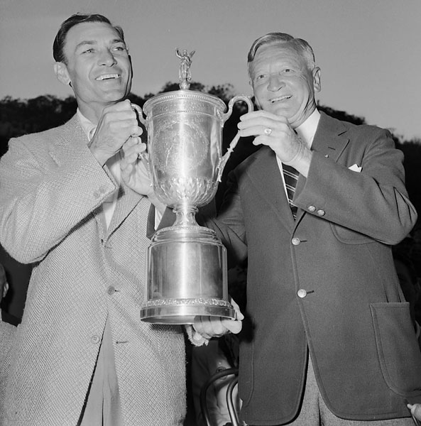 Hogan won his first U.S. Open title in 1948 at Riviera in Los Angeles.