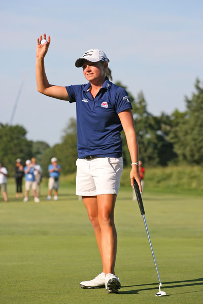 Lewis shot back-to-back 65s in the first two rounds of the 2012 ShopRite LPGA Classic and then cruised to a four-shot victory.