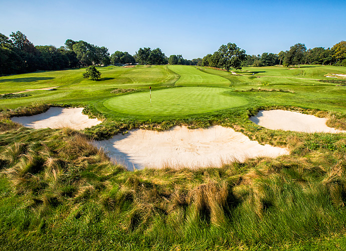 On top of the 4th hole's length, there is a creek that runs in front of the green, which will make reaching in two nearly impossible for the pros.