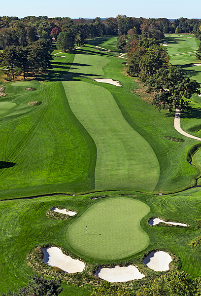The monstrous par-5 4th hole will play at 628 yards during the Open.