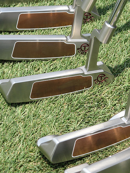 These Newport-style putters feature a gold-colored Teryllium insert.