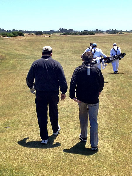 """""""@eamonlynch: Good company. Ken Jowdy, owner of Diamanté in Cabo, and Brandel. No 9 at Old Mac."""""""