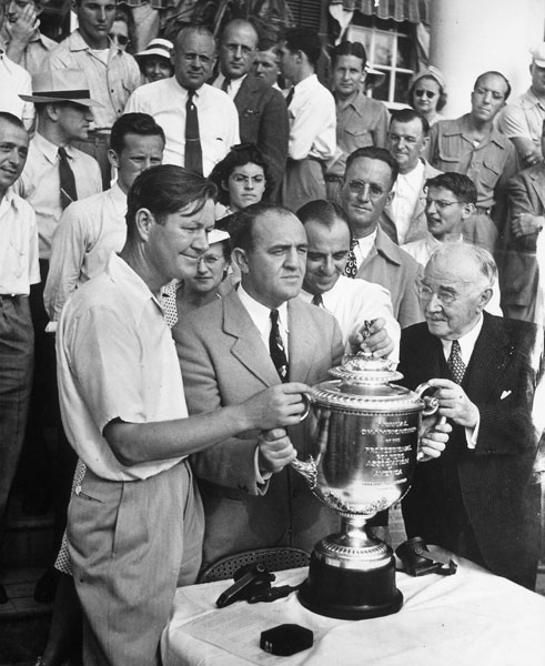 No. 6 | 1940: Golf royalty met in the final, when Byron Nelson and Sam Snead knocked horns at Hershey Country Club. One hole down with three to play, Lord Byron stuck it to two feet at the 34th, wedged it to a foot at the 35th for a second birdie, then parked a syrupy 3-iron to 10 feet at the par-3 finale, a hole that finished at the edge of chocolatier Milton Herhsey's mansion, to win 1 up.