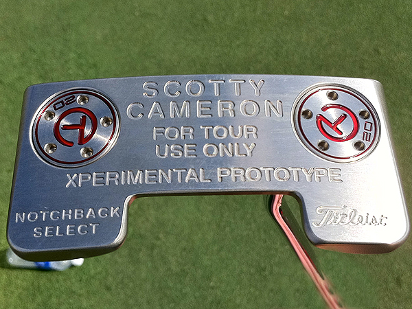 This is an example of a Scotty Cameron prototype putter that has been made available to PGA Tour pros but not the general public. Yet.