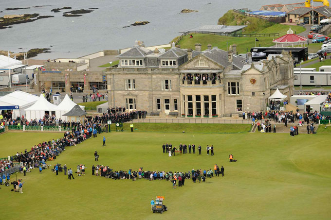 St. Andrews Old Course                     No. 4 on Golf Magazine's Top 100 Courses, the Old Course at St. Andrews is set directly in front of the R&A headquarters. Here is No. 18 from the 2010 British Open Championship.