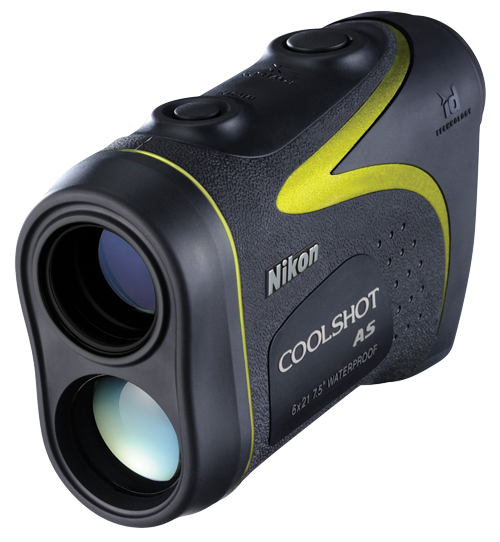 Nikon Coolshot AS ($300; Nikongolf.com): Nikon's waterproof distance finder is compact enough to fit in your pocket and measures actual and horizontal distance (including height and slope adjustments) with the click of a button.