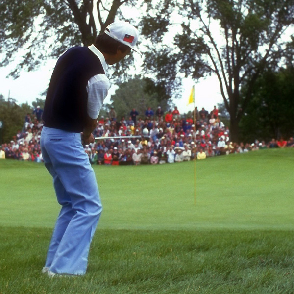 T.C. Chen seemed in control of the 1985 U.S. Open at Oakland Hills outside of Detroit, leading by four shots after four holes on Sunday. Then at the fifth, Chen double-hit a chip out of the rough and made an eight. He also bogeyed the final two holes and lost to Andy North.
