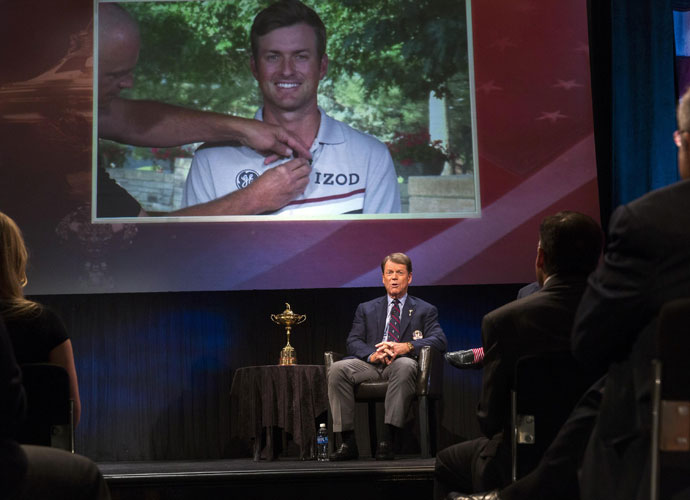 Watson picked the wrong three guys as his captain's picks.  Wrong. Chris Kirk and Billy Horschel may have won FedEx Cup playoff events in Boston and Denver, respectively, but that's nothing compared to the pressure of playing in the Ryder Cup. Keegan Bradley, Hunter Mahan and Webb Simpson have been there.