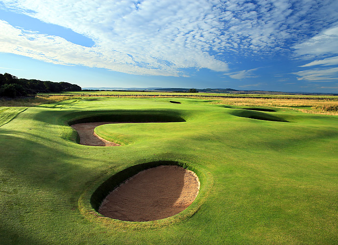 The 8th hole. Other past Open champions who won at Muirfield include Nick Faldo, Tom Watson, Lee Trevino, Jack Nicklaus, Gary Player, Walter Hagen and Harry Vardon.
