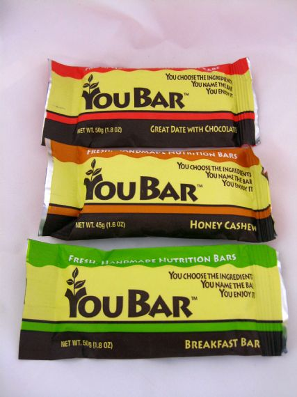 lets you create your own energy bar, select all the organic ingredients, and then personalize the label. To help golfers looking to keep their new year's resolution, even on the course, nutritional information about your bar is provided as you blend it. $37.57-$41.47 per dozen.                        More information at youbars.com.