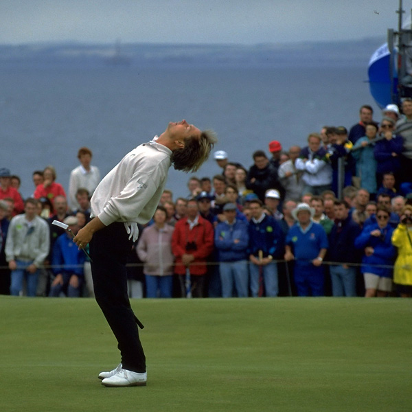 John Cook had a two-stroke lead with two holes left at the 1992 British Open at Muirfield, and he looked to build on his lead at the par-5 17th. But Cook missed a two-foot birdie putt, then bogeyed 18 to lose to Nick Faldo.