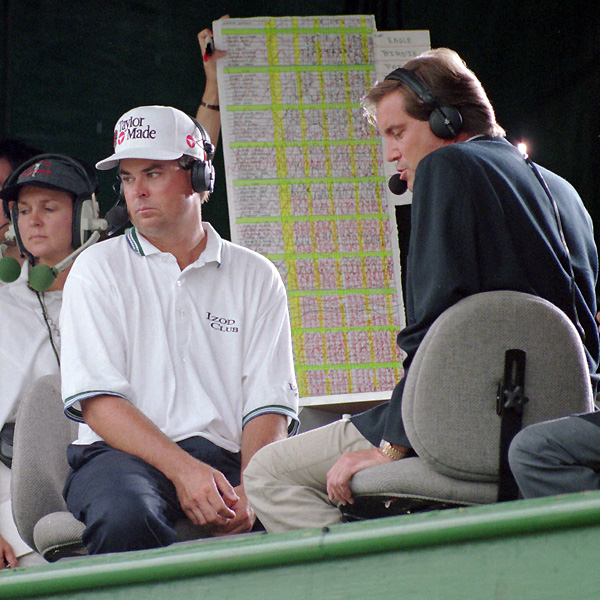 Instead of keeping loose on the driving range, Kenny Perry decided to sit in the television tower to see if he would be in a playoff. When Mark Brooks tied Perry, the two went into a playoff, and Brooks won when he made a five-foot putt for birdie.