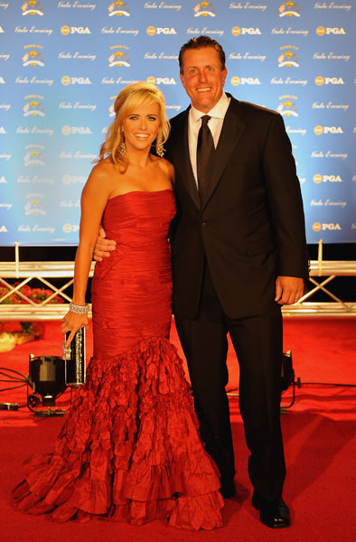 Phil Mickelson and his wife Amy arrive on the red carpet for the Ryder Cup Gala dinner prior to the start of the 2008 Ryder Cup.