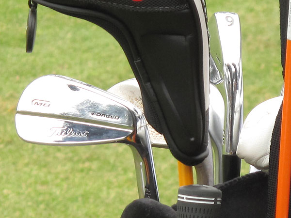 switched to Titleist's new MB irons this summer, and he has them in the bag this week at Harding Park.
