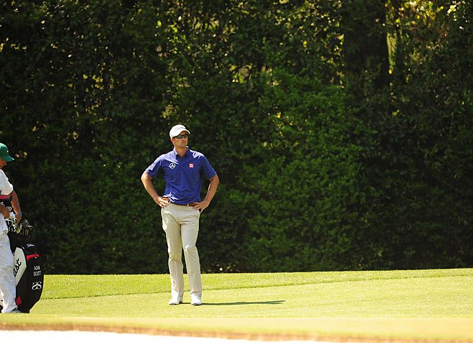 But Scott didn't hold up on Moving Day, struggling to a 76 that left him six shots back.