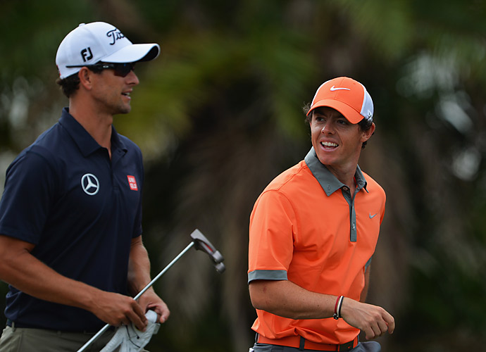 McIlroy played alongside Adam Scott on Thursday.