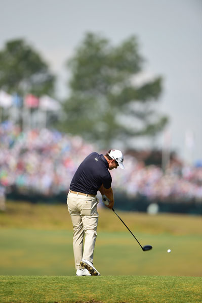 "Adam Scott, ranked No. 1 in the world, shot 67 in the second round to get back to even par. It was his career-best round in a U.S. Open. ""I think if I drew up my perfect plan right now, over the next 27 holes you would like to narrow the gap to less than half of what it is,"" Scott said. ""Anything could happen over nine holes at a U.S. Open, so if I played great and (Martin Kaymer) continues to play great, I think I can narrow that gap and hopefully feel like I'm in contention come the back nine Sunday."""