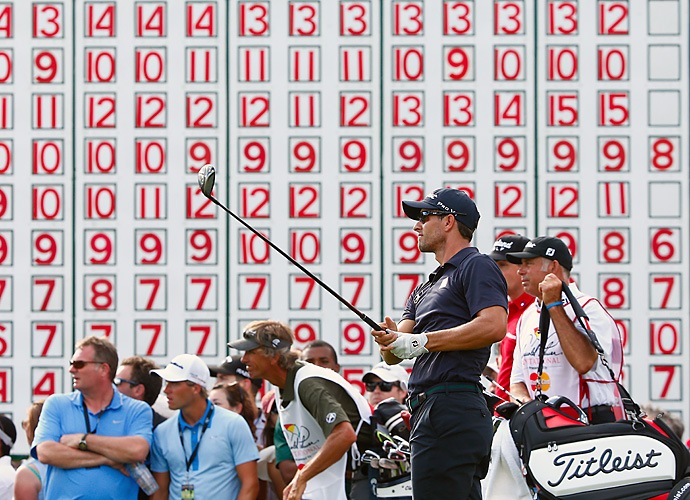Scott finished alone in third at 11-under, missing his chance to claim the No. 1 ranking from Tiger Woods. Woods, Scott and Stenson will battle for the top spot at the Masters in April.